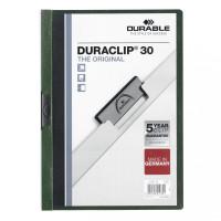 Skoroszyt zaciskowy DURABLE DURACLIP 1-30 ciemnozielony 25szt.