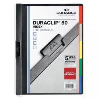 Skoroszyt zaciskowy DURABLE Duraclip 1-50 czarny