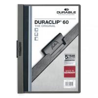 Skoroszyt zaciskowy DURABLE DURACLIP 1-60 antracytowy 25szt