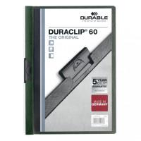 Skoroszyt zaciskowy DURABLE DURACLIP 1-60 ciemnozielony 25szt
