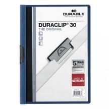 Skoroszyt zaciskowy DURABLE DURACLIP A4 1-30k granatowy 5szt