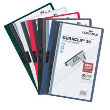 Skoroszyt zaciskowy DURABLE DURACLIP A4 1-30k mix kolorów 5szt.