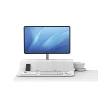 Stanowisko do pracy FELLOWES Sit-Stand Lotus™ RT - białe na 1 monitor
