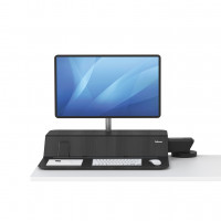 Stanowisko do pracy FELLOWES Sit-Stand Lotus™ RT - czarne na 1 monitor
