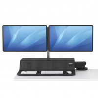 Stanowisko do pracy FELLOWES Sit-Stand Lotus™ RT - czarne na 2 monitory