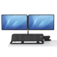 Stanowisko do pracy FELLOWES Sit-Stand Lotus™ RT - czarne na 2 monitory