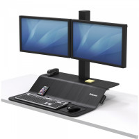 Stanowisko do pracy FELLOWES Sit-Stand Lotus™ VE na dwa monitory