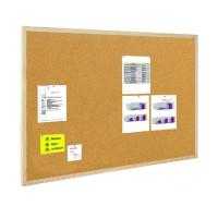 Tablica korkowa BI-OFFICE 90x60cm w ramie drewnianej