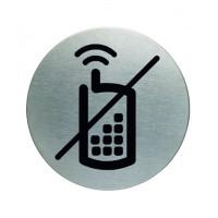 """Tabliczka DURABLE Picto """"Zakaz rozmawiania przez telefon komórkowy"""" okrągła"""