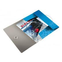 Teczka z gumką LEITZ Bebop A4 15mm niebieska