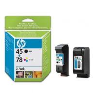 Tusz HP SA308AE nr 48 + 78 zestaw tuszy czarny + trójkolorowy