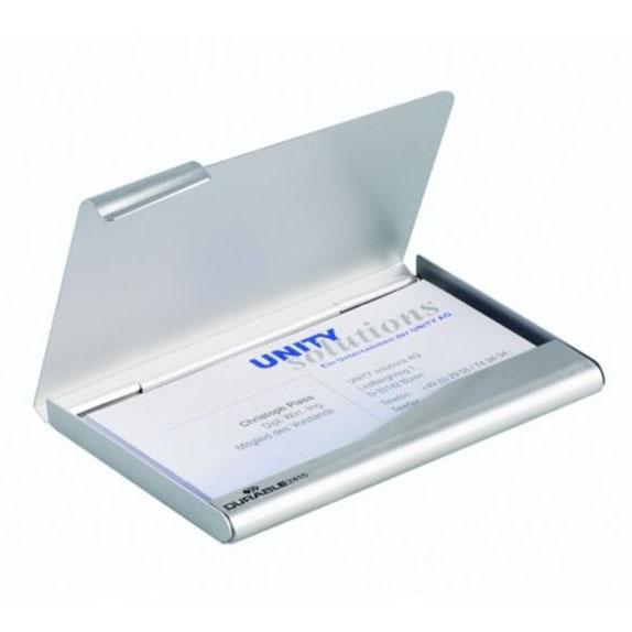 Wizytownik kieszonkowy DURABLE aluminiowy srebrny