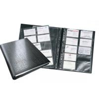 Wizytownik obrotowy DURABLE Visifix czarny 400 wizytówek z przekładkami