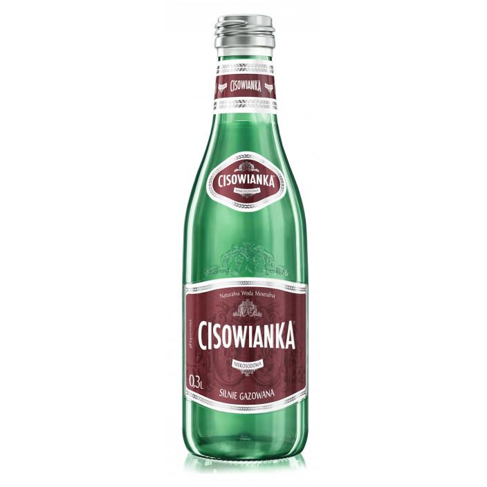 Woda CISOWIANKA 330ml gazowana w szkle 24szt.