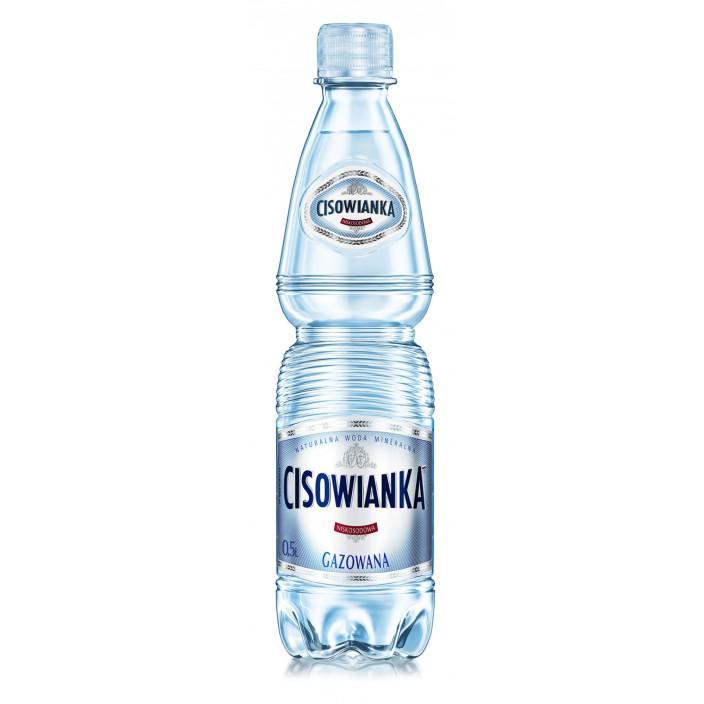 Woda CISOWIANKA gazowana 0,5l 12szt.