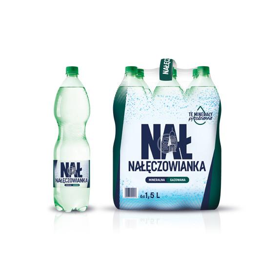 Woda NAŁĘCZOWIANKA gazowana 1,5l 6szt.