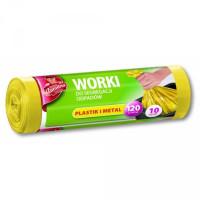 Worki LDPE do selektywnej zbiórki odpadów żółte 10szt.