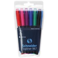 Zestaw cienkopisów SCHNEIDER Topliner 967, 0,4 mm, 6 szt., miks kolorów