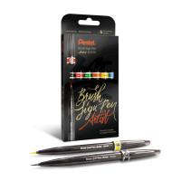 Zestaw pisaków PENTEL Brush Sign Pen Artist 6 sztuk