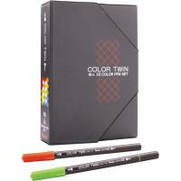 Zestaw pisaków PENTEL z dwiema końcówkami 0,5 i 0,9mm 18 kolorów